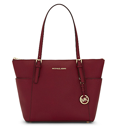 MICHAEL MICHAEL KORS Jet Set medium leather tote (Cherry
