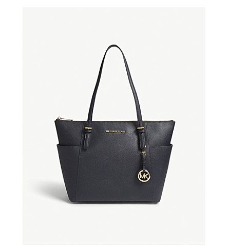MICHAEL MICHAEL KORS Jet Set leather tote (Admiral
