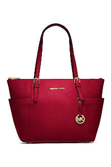 MICHAEL KORS Jet Set medium saffiano leather tote