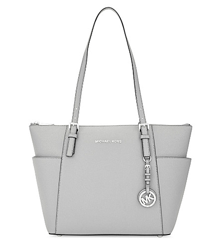 MICHAEL MICHAEL KORS Jet Set leather trapeze tote (Aluminum