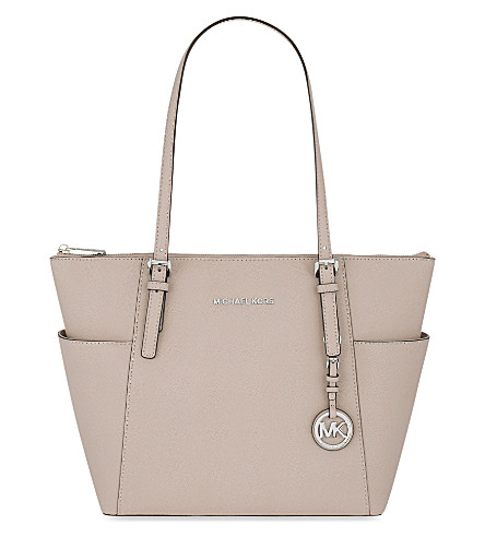 MICHAEL MICHAEL KORS Jet Set leather trapeze tote (Ballet