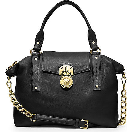 MICHAEL KORS Hamilton slouchy leather satchel (Black