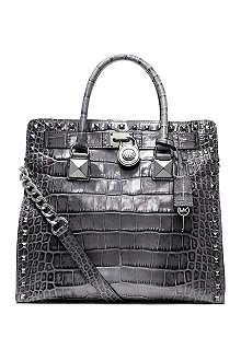 MICHAEL KORS Hamilton mock-croc leather tote