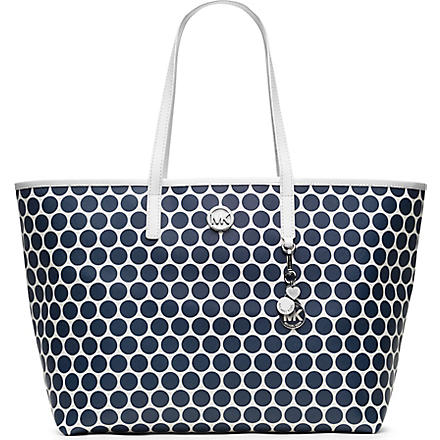 MICHAEL KORS Kiki medium tote (White/navy