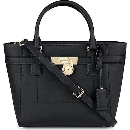 MICHAEL MICHAEL KORS Hamilton leather tote (Black