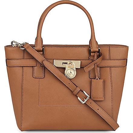 MICHAEL MICHAEL KORS Hamilton leather tote (Luggage