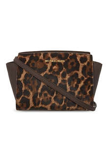 MICHAEL MICHAEL KORS Selma medium leopard print shoulder bag