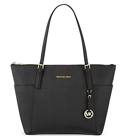 MICHAEL MICHAEL KORS Top-zip saffiano tote (Black