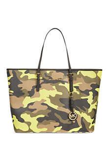MICHAEL KORS Medium camouflage travel tote