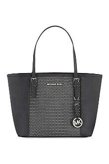 MICHAEL MICHAEL KORS Micro stud leather tote
