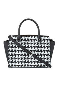 MICHAEL MICHAEL KORS Selma medium houndstooth satchel