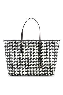 MICHAEL MICHAEL KORS Houndstooth saffiano tote