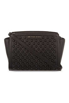 MICHAEL MICHAEL KORS Selma medium black stud messenger bag