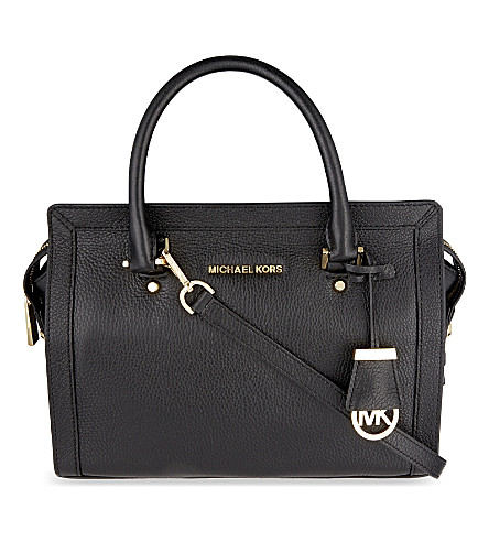 MICHAEL MICHAEL KORS Collins medium soft leather tote (Black
