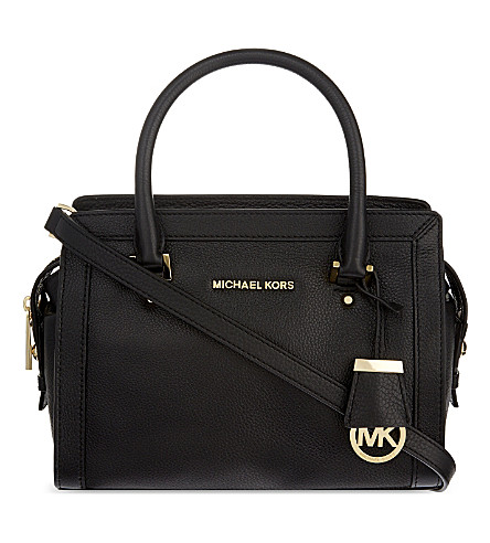 MICHAEL MICHAEL KORS Collins small soft leather tote (Black