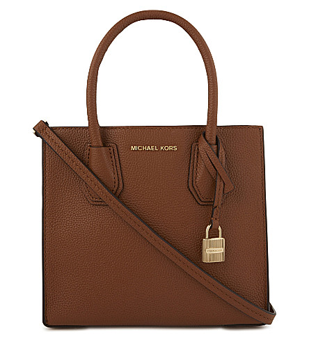 MICHAEL MICHAEL KORS Mercer grained leather shoulder bag (Luggage