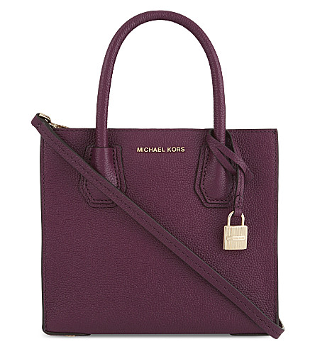 MICHAEL MICHAEL KORS Mercer grained leather shoulder bag (Plum