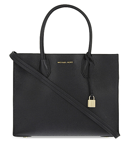 MICHAEL MICHAEL KORS Mercer large leather shoulder bag (Black