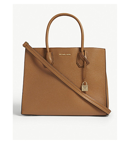 MICHAEL MICHAEL KORS Mercer large grained leather tote bag (Acorn