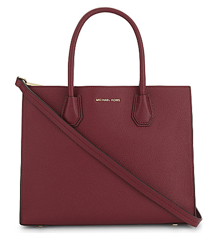 MICHAEL MICHAEL KORS Mercer large grained leather tote bag (Mulberry