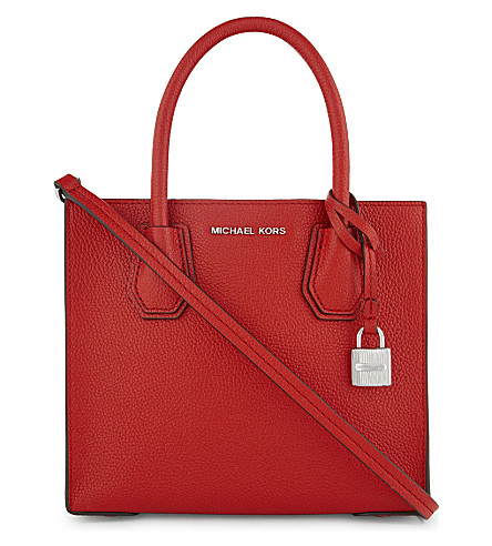 MICHAEL MICHAEL KORS Mercer medium leather shoulder bag (Bright+red