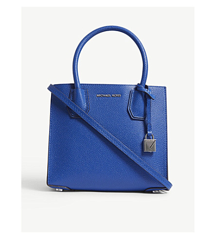 MICHAEL MICHAEL KORS Mercer medium leather shoulder bag (Elctric+blue