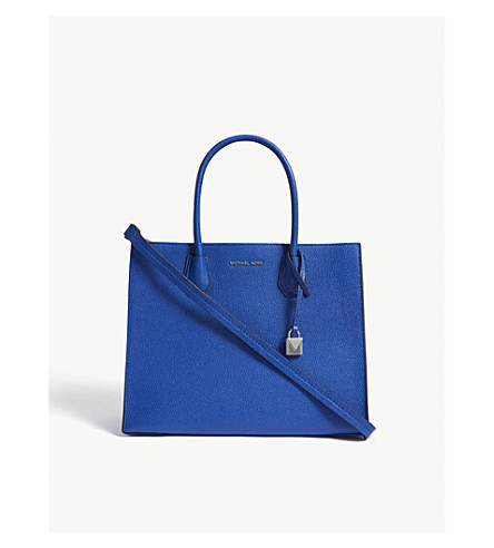MICHAEL MICHAEL KORS Mercer large leather tote (Elctric+blue
