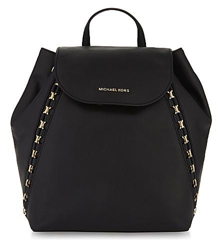 MICHAEL MICHAEL KORS Sadie chain leather backpack (Black
