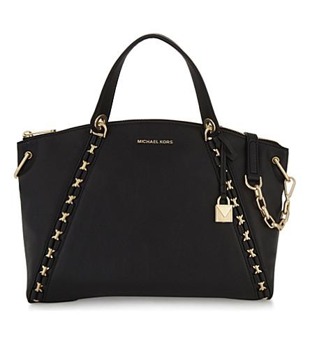 MICHAEL MICHAEL KORS Sadie leather satchel bag (Black