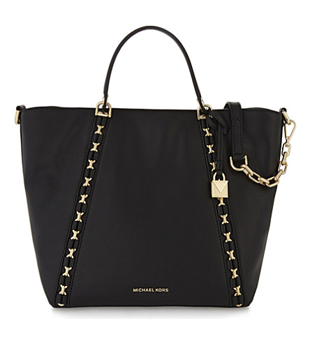MICHAEL MICHAEL KORS Sadie leather grab bag (Black