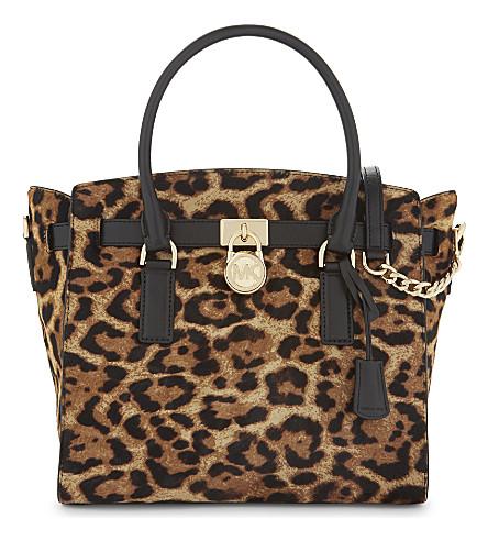 MICHAEL MICHAEL KORS Hamilton leopard-printed tote bag (Butterscotch