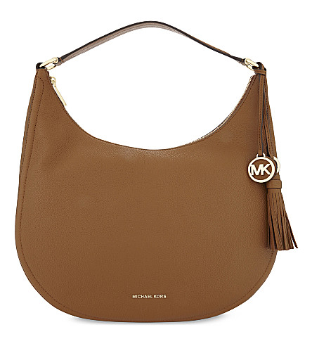 MICHAEL MICHAEL KORS Lydia leather shoulder bag (Acorn