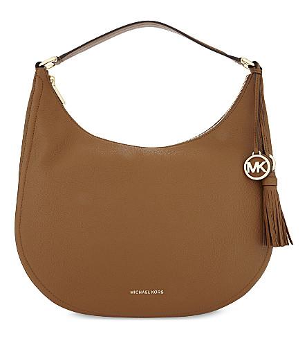 MICHAEL MICHAEL KORS Lydia leather shoulder bag (Acorn