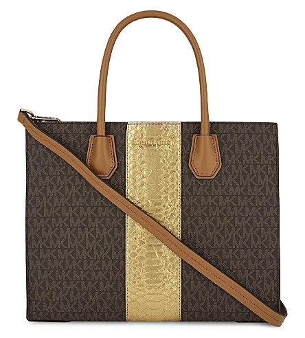 MICHAEL MICHAEL KORS Mercer large leather tote (Brown