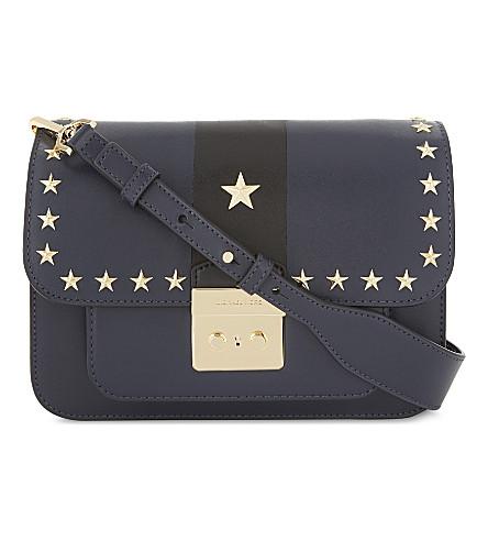 MICHAEL MICHAEL KORS Sloan Editor large leather shoulder bag (Admiral/blk