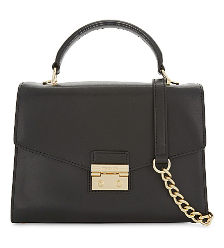 MICHAEL MICHAEL KORS Sloan medium leather satchel (Black