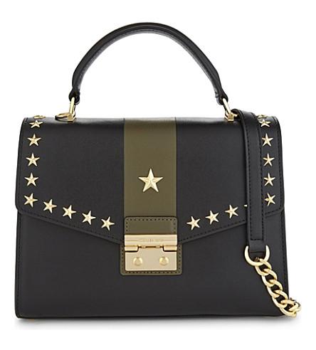 MICHAEL MICHAEL KORS Sloan medium leather shoulder bag (Blk/olive