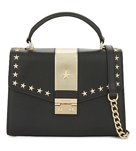MICHAEL MICHAEL KORS Sloan medium leather shoulder bag (Blk/gold