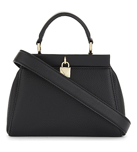MICHAEL MICHAEL KORS Gramercy frame leather satchel bag (Black