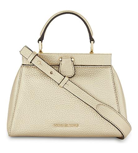 MICHAEL MICHAEL KORS Gramercy small satchel bag (Pale+gold