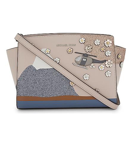 MICHAEL MICHAEL KORS Selma leather cross-body bag (Soft+pink