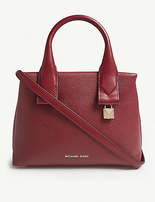 michael michael kors rollins leather satchel selfridges com rh selfridges com
