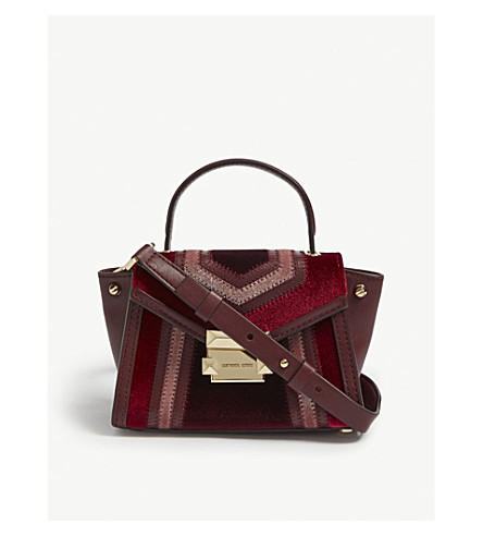7cf8bbab99f5 ... MICHAEL MICHAEL KORS Whitney mini velvet satchel (Oxblood+multi.  PreviousNext