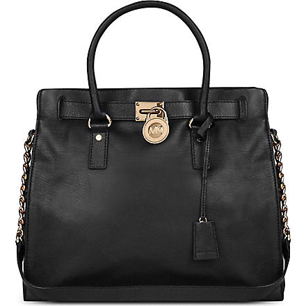 MICHAEL MICHAEL KORS Hamilton leather tote (Black
