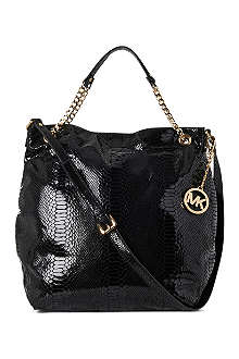 MICHAEL KORS Jet Set Chain large mock-python shoulder bag