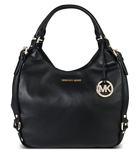 MICHAEL MICHAEL KORS Bedford large soft-grain leather hobo (Black