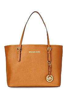 MICHAEL KORS Jet Set small saffiano travel tote