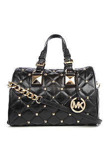 MICHAEL KORS Grayson studded bowling bag