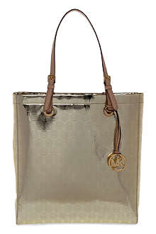MICHAEL KORS Jet Set metallic tote