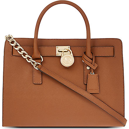 MICHAEL KORS Hamilton saffiano leather tote (Luggage